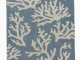 Beach Cottage Style area Rugs Coastal Coral Tides area Rug Arctic Blue