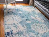 Beach themed area Rugs 8×10 Light Blue 8 X 10 Amalfi Rug