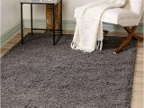 Bed Bath and Beyond area Rugs 9×12 Unique Loom solo solid Shag Collection Modern Plush Graphite Gray area Rug 5 0 X 8 0