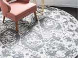 Bed Bath and Beyond Round area Rugs Brighella Light Gray Vintage 3 Ft Round area Rug In 2020
