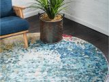 Bed Bath and Beyond Round area Rugs Hyacinth Blue 6 Ft Round area Rug In 2020