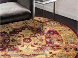 Bed Bath and Beyond Round Rugs 5 X 5 New Round Rug 43840 Uniqueloom Modern
