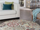 Bed Bath and Beyond Round Rugs Dilek Transitional Floral Seafoam Round area Rug 5 Round