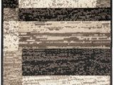 Bed Bath and Beyond Rug Gripper Superior Modern Rockwood Collection area Rug Modern area Rug 8 Mm Pile Geometric Design with Jute Backing Chocolate 2 X 11