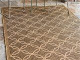 Bed Bath and Beyond Rugs 3×5 Unique Loom Outdoor Trellis Collection Geometric Border Transitional Indoor and Outdoor Flatweave Light Brown Cream area Rug 3 3 X 5 0