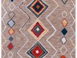 Beige and orange area Rug Roisin southwestern Beige orange area Rug