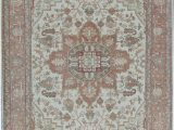 Beige and Rust area Rug oriental Hand Knotted Wool Beige Rust area Rug