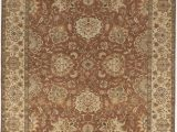 Beige and Rust area Rug Strahan Luxury Hand Knotted Wool Beige Rust area Rug