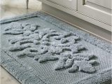 Belize Memory Foam Bath Rug Everly S Overtufted Damask Design and Piqué Background Lends