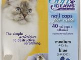 Best area Rugs for Cats with Claws soft Claws Feline Cat Nail Caps Take Home Kit Medium Blue