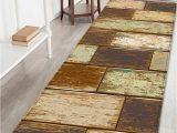 Best area Rugs for Tile Floors Wood Floor Print Living Room area Rug Brown W24 Inch L71