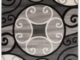 """Better Homes and Gardens Overlapping Medallion area Rug Modern Scroll Circles Design area Rug 5 3"""" X 7 3"""" Gray Walmart"""