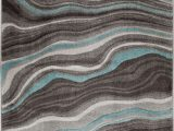 Better Homes and Gardens Waves area Rug Better Homes & Gardens Gray & Aqua Waves area Rug Multiple Sizes Walmart
