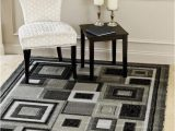 Black and Grey area Rugs 8×10 Persian area Rugs 8×10 3285 Gray Black White with Squares area Rug