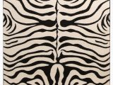 Black and Off White area Rugs Stunning Zebra Pattern Rug Black F White In 2020