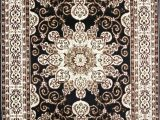 Black and Off White area Rugs Thanos oriental Black F White area Rug