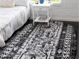 Black and White area Rugs 3×5 Black and White 3 X 5 oregon Oval Rug