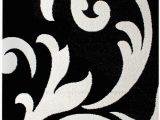 "Black and White area Rugs 3×5 Super area Rugs Black Rug 3×5 Contemporary Design 3 3 X 4 7"" soft Damask Carpet"