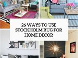 Black and White area Rugs Ikea 26 Ways to Use Ikea Stockholm Rug for Home Decor Digsdigs