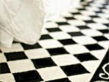 Black and White Checkered Bathroom Rug Checkered Carpet Black and White