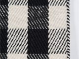 "Black and White Plaid area Rug A Scotch Please"" Black White Plaid Wool area Rug"