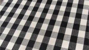"Black and White Plaid area Rug ""a Scotch Please"" Black White Plaid Wool area Rug"