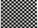 Black and White Plaid area Rug Graff Plaid Black White area Rug