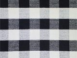 Black and White Plaid area Rug Pickering Plaid Handmade Wool Black area Rug