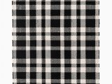 Black and White Plaid area Rug Tattersal Black Indoor Outdoor Rug