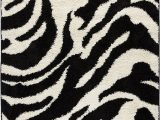 Black and White Plush area Rug Well Woven Madison Shag Safari Zebra Black Animal Print area Rug 3 3 X 5 3