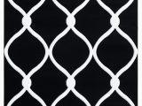 Black and White Round area Rugs Fishback Geometric Black White area Rug