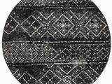 Black and White Round area Rugs Safavieh Adirondack Black and Silver 6 X 6 Round area Rug