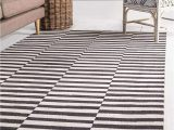 Black and White Striped area Rug 8×10 Unique Loom Williamsburg Collection Casual Striped Black area Rug 8 0 X 10 0