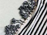 Black and White Striped Bath Rug B&w Stripe – Loom towels