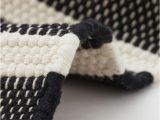Black and White Striped Bath Rug Pdp