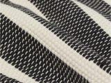 Black and White Striped Bath Rug Striped Floor Mat Natural White Black Striped Home All