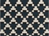Black and White Woven area Rug Avon Collection Hand Woven area Rug In Blue Black & White