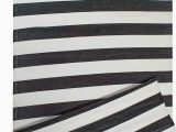 Black and White Woven area Rug Dii Reversible Indoor Woven Striped Outdoor Rug 4×6 White & Black