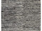 Black and White Woven area Rug Nature Collection Hand Woven Wool and Hemp area Rug In Black