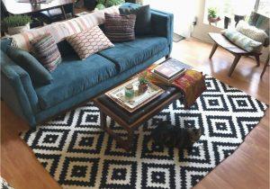 Black area Rugs for Living Room Mercury Row Obadiah Hand Tufted Wool Black area Rug