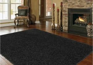 Black area Rugs for Living Room Shaggy Extra Black area Rug