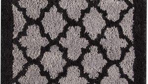 Black Bathroom Rugs Amazon Amazon Lattice 20 X 30 Bath Rug Black Grey Geometric