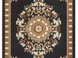 Black Brown and Beige area Rugs Rug and Decor Capri Collection Black Brown Beige oriental Classic area Rug Walmart