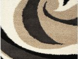 Black Brown and Beige area Rugs Shaggy Black Brown and Cream area Rug – 5 X 8