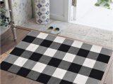 Black Buffalo Check area Rug Buffalo Check Floor Mat