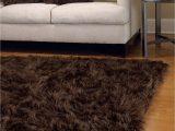 Black Faux Fur area Rug Chocolate Mongolian Lamb area Rugs Fabulous Furs