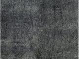 Black Faux Fur area Rug Modern Charcoal Black Faux Fur area Rug