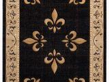 Black Fleur De Lis area Rug Goines Beige Black Brown area Rug