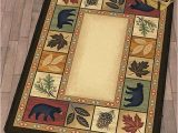 Black forest Decor area Rugs Black forest Decor Leafy Lodge Bears Rug 8 X 11 In 2020