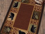 Black forest Decor area Rugs Peaceful Habitat Black Bear Rug 3 X 4 Bear Rug Black